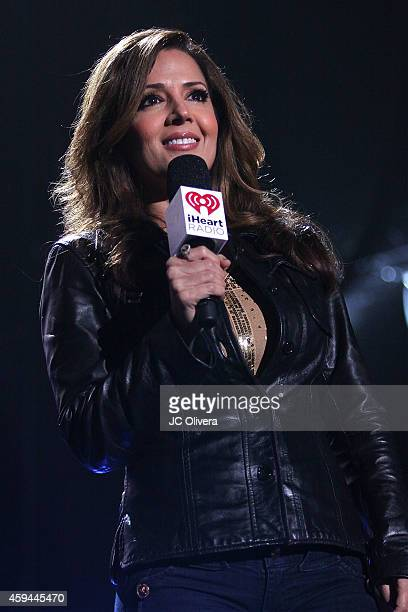 Actress Maria CanalsBarrera on stage during iHeartRadio Fiesta Latina Music Festival at The Forum on November 22 2014 in Inglewood California