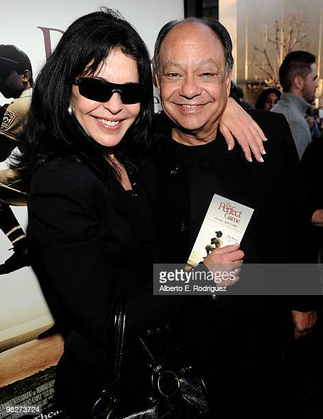 Actress Maria Conchita Alonso and actor Cheech Marin arrives at the premiere of IndustryWorks' 'The Perfect Game' on April 5 2010 in Los Angeles...
