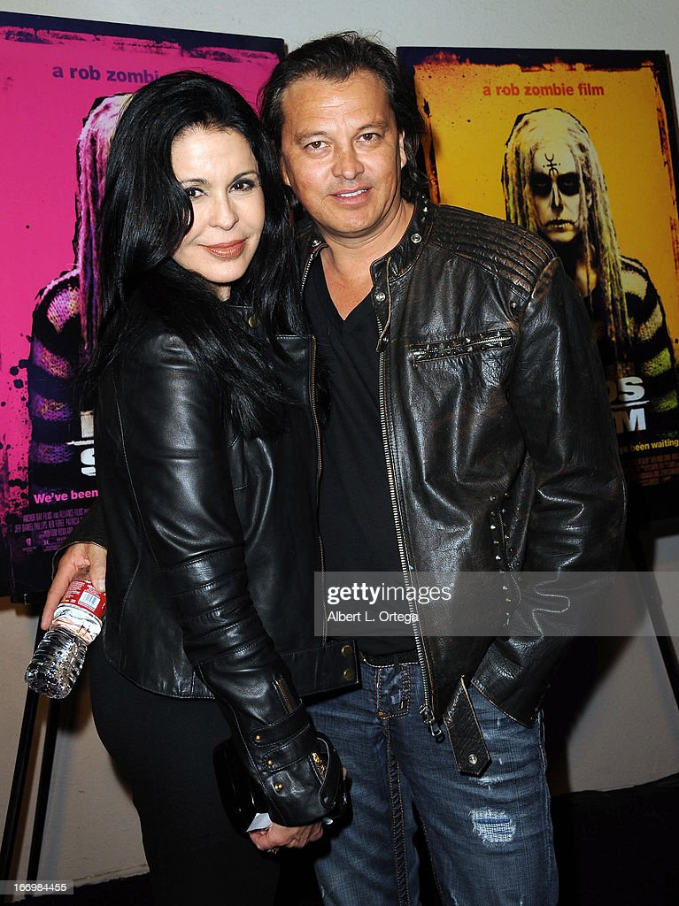 Actress <a gi-track='captionPersonalityLinkClicked' href=/galleries/search?phrase=Maria+Conchita+Alonso&family=editorial&specificpeople=208900 ng-click='$event.stopPropagation()'>Maria Conchita Alonso</a> and Ferdinand Bare arrive for Fan Screening Of Anchor Bay Films' Rob Zombie's 'The Lords Of Salem' - Arrivalsheld at AMC Burbank 16 on April 18, 2013 in Burbank, California.