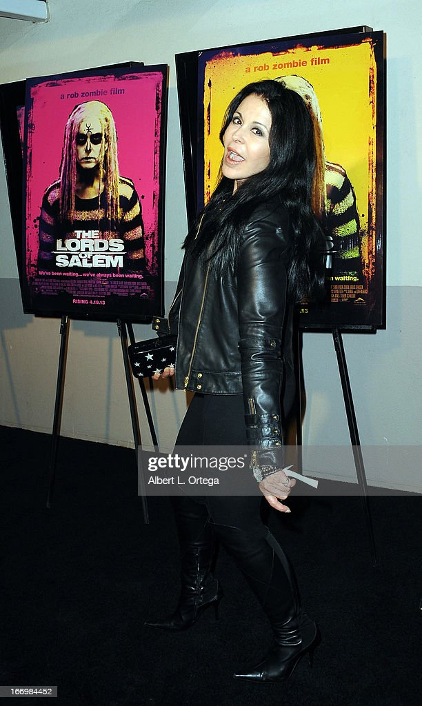 Actress <a gi-track='captionPersonalityLinkClicked' href=/galleries/search?phrase=Maria+Conchita+Alonso&family=editorial&specificpeople=208900 ng-click='$event.stopPropagation()'>Maria Conchita Alonso</a> arrives for Fan Screening Of Anchor Bay Films' Rob Zombie's 'The Lords Of Salem' - Arrivalsheld at AMC Burbank 16 on April 18, 2013 in Burbank, California.