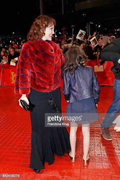 Actress Maria Fernandez Ache accompanies her daughter actress Dafne Keen to the 'Logan' premiere during the 67th Berlinale International Film...