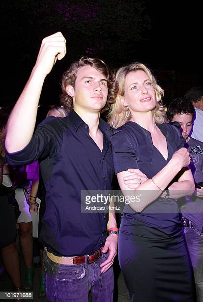 Actress Maria Furtwaengler on son Jakob attend the DLDwomen's NIGHT powered by Burda Style Group at the Brenner on June 10 2010 in Munich Germany