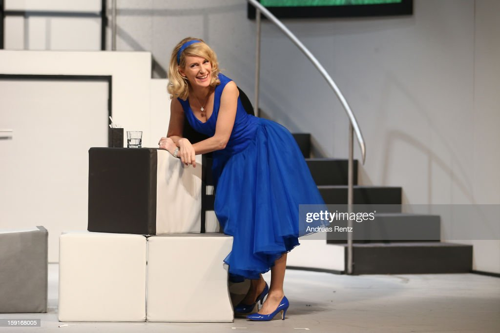 Actress <a gi-track='captionPersonalityLinkClicked' href=/galleries/search?phrase=Maria+Furtwaengler&family=editorial&specificpeople=2135673 ng-click='$event.stopPropagation()'>Maria Furtwaengler</a> performs during the 'Geruechte...Geruechte...' photo rehearsal at Komoedie am Kurfuerstendamm Theater on January 9, 2013 in Berlin, Germany.