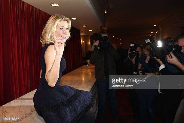 Actress Maria Furtwaengler poses for photographers after the 'GeruechteGeruechte' premiere at Theater am Kurfuerstendamm on January 13 2013 in Berlin...