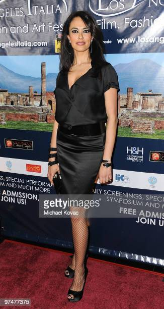 Actress Maria Grazia Cucinotta attends the 5th Annual Los Angeles Italia Festival Honors Academy Award Winners Nominees Screening at Mann Chinese 6...