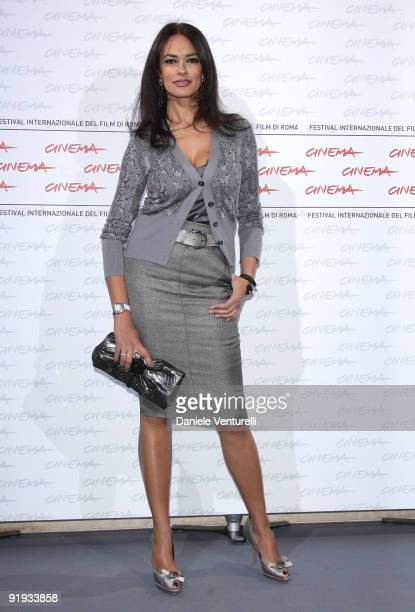 Actress Maria Grazia Cucinotta attends the ''Viola Di Mare' Photocall during day 2 of the 4th Rome International Film Festival held at the Auditorium...