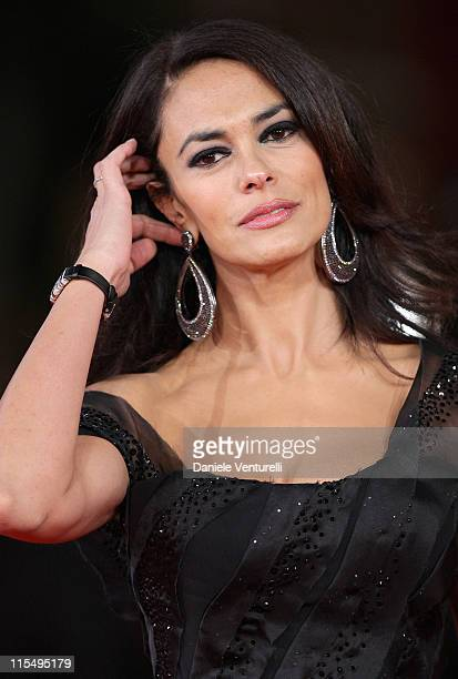 Actress Maria Grazia Cucinotta attends the 'Viola Di Mare' Premiere during day 2 of the 4th Rome International Film Festival held at the Auditorium...