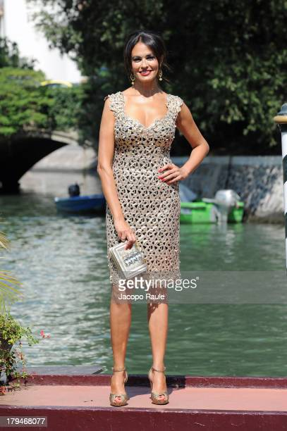 Actress Maria Grazia Cucinotta is seen during the 70th Venice International Film Festival on September 4 2013 in Venice Italy