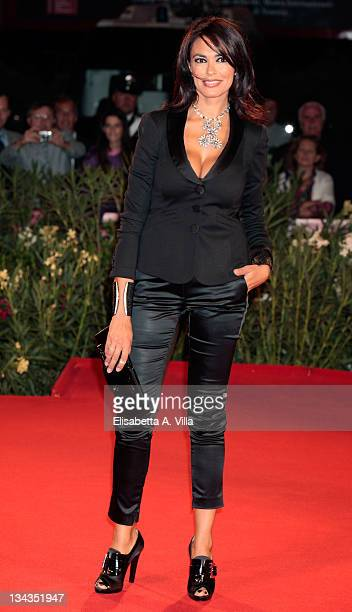 Actress Maria Grazia Cucinotta of Italy attends the premiere of ''La Doppia Ora'' at the Sala Grande during the 66th Venice Film Festival on...