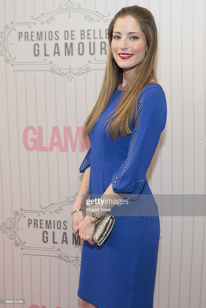 Actress Maria Ines attends the 'Glamour Magazine Beauty Awards' at Indianilla cultural center on February 7, 2013 in Mexico City, Mexico.