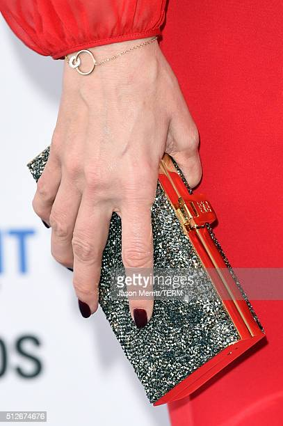Actress Maria Joao Bastos purse detail attends the 2016 Film Independent Spirit Awards on February 27 2016 in Santa Monica California