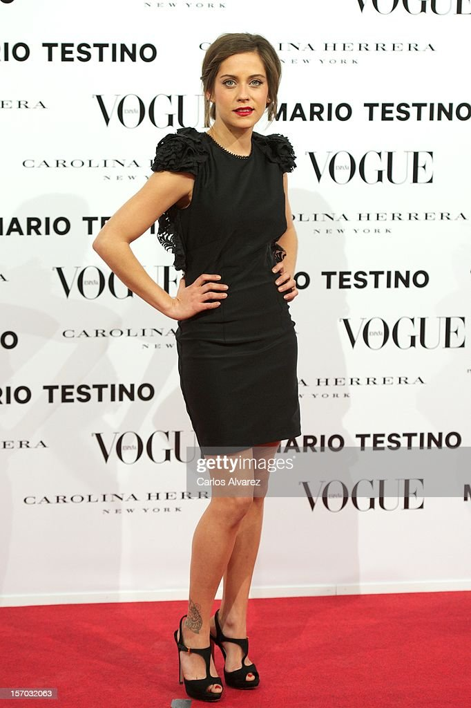 Actress Maria Leon attends the Vogue & Mario Testino party at Fernan Nunez Palace on November 27, 2012 in Madrid, Spain.