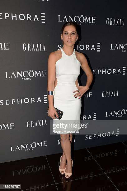 Actress Maria Leon poses for the press during a Sephora product presentation on October 10 2013 in Barcelona Spain