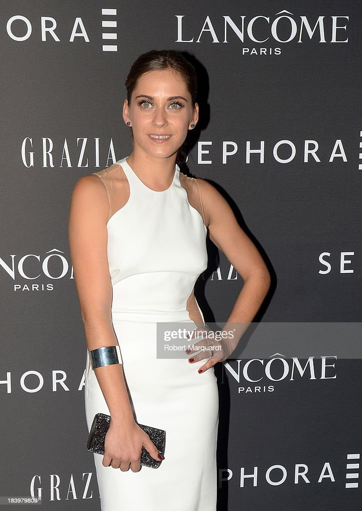 Actress Maria Leon poses for the press during a Sephora product presentation on October 10, 2013 in Barcelona, Spain.