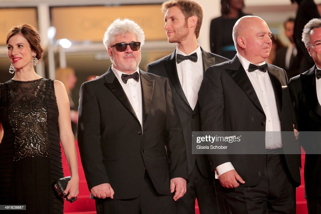 Actress Maria Marull director and producer Pedro Almodovar director Damian Szifron and producer Agustin Almodovar attend the Premiere of 'Savage...