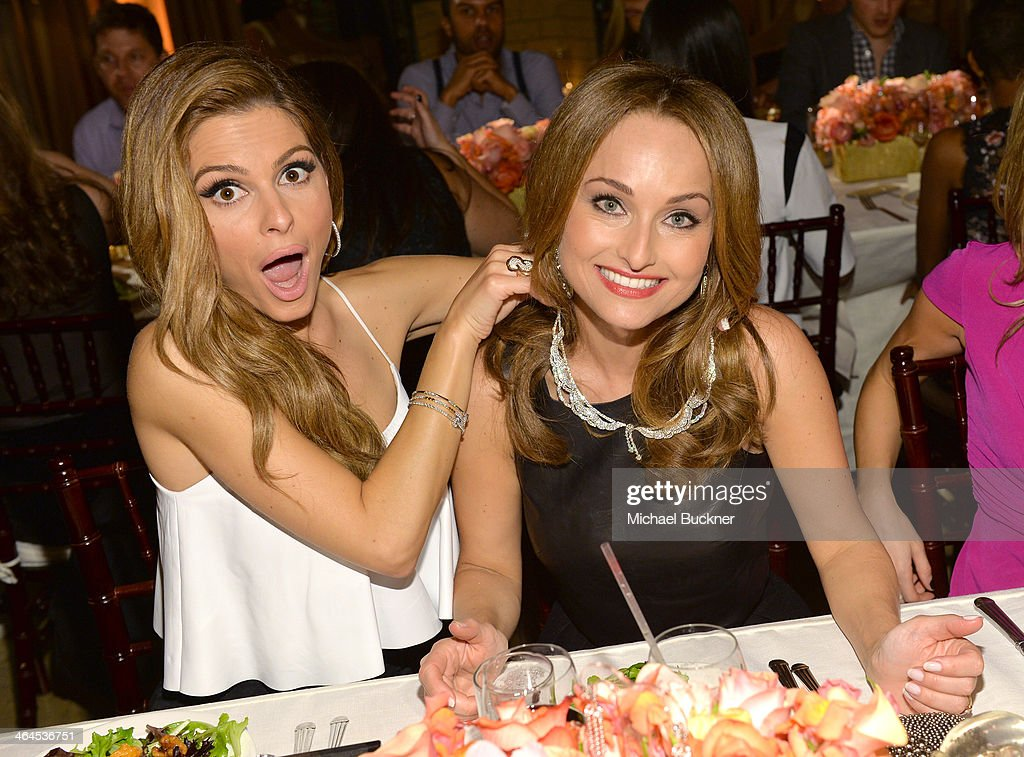 Actress <a gi-track='captionPersonalityLinkClicked' href=/galleries/search?phrase=Maria+Menounos&family=editorial&specificpeople=203337 ng-click='$event.stopPropagation()'>Maria Menounos</a> (L) and celebrity chef <a gi-track='captionPersonalityLinkClicked' href=/galleries/search?phrase=Giada+De+Laurentiis&family=editorial&specificpeople=601210 ng-click='$event.stopPropagation()'>Giada De Laurentiis</a> attend ELLE's Annual Women in Television Celebration on January 22, 2014 in West Hollywood, California.