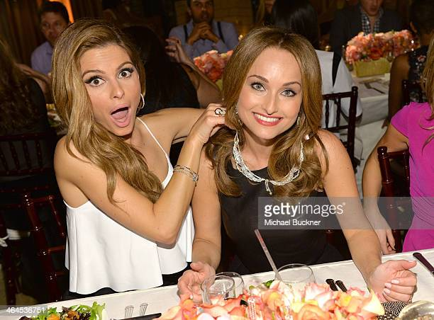 Actress Maria Menounos and celebrity chef Giada De Laurentiis attend ELLE's Annual Women in Television Celebration on January 22 2014 in West...