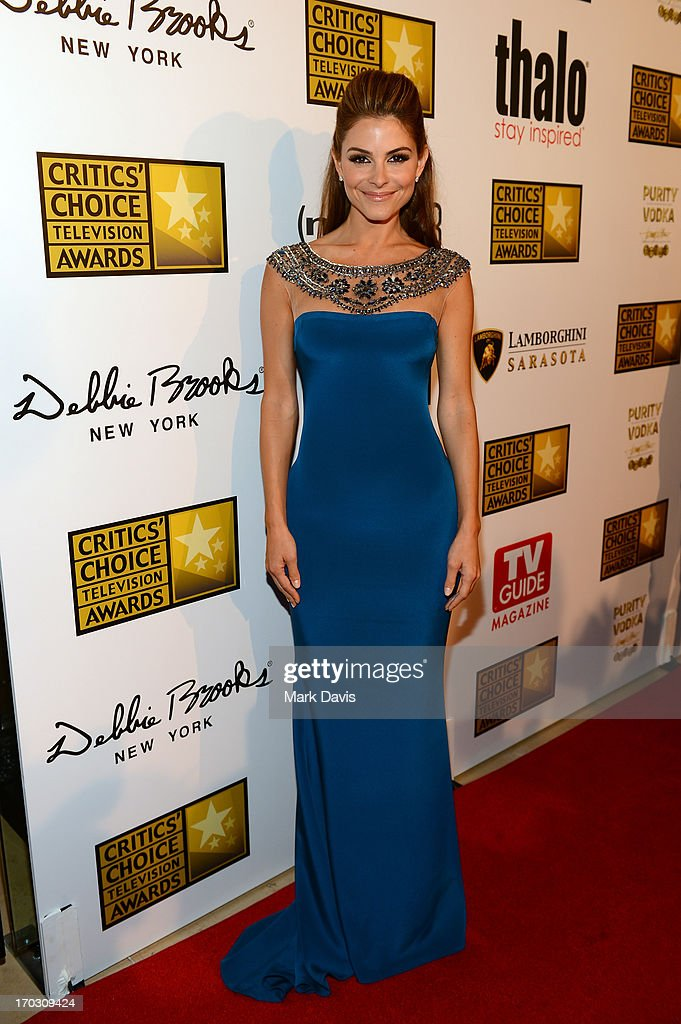 Actress Maria Menounos arrives at Broadcast Television Journalists Association's third annual Critics' Choice Television Awards at The Beverly Hilton Hotel on June 10, 2013 in Los Angeles, California.