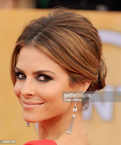 Actress Maria Menounos arrives at the 19th Annual Screen Actors Guild Awards at The Shrine Auditorium on January 27 2013 in Los Angeles California