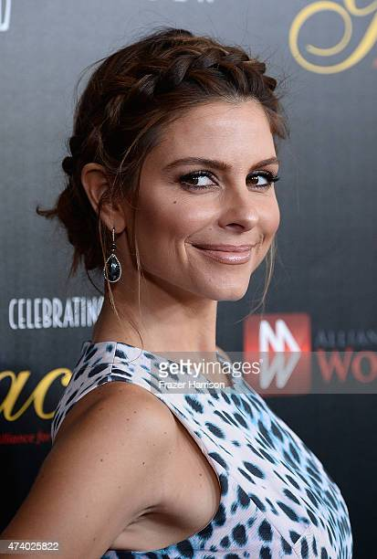 Actress Maria Menounos arrives at the 40th Anniversary Gracies Awards at The Beverly Hilton Hotel on May 19 2015 in Beverly Hills California