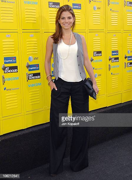 Actress Maria Menounos arrives at the Los Angeles Premiere and Conference 'Get Schooled' at Paramount Studios on September 8 2009 in Los Angeles...