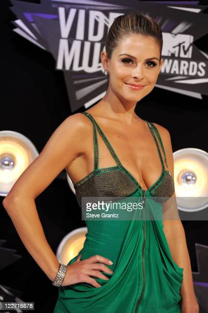 Actress Maria Menounos arrives at the The 28th Annual MTV Video Music Awards at Nokia Theatre LA LIVE on August 28 2011 in Los Angeles California