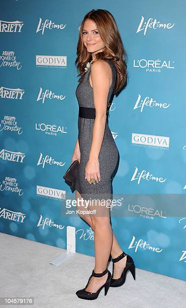 Actress Maria Menounos arrives at Variety's 2nd Annual Power Of Women Luncheon at Beverly Hills Hotel on September 30 2010 in Beverly Hills California