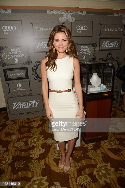 Actress Maria Menounos arrives at Variety's 4th Annual Power of Women Event Presented by Lifetimeat the Beverly Wilshire Four Seasons Hotel on...