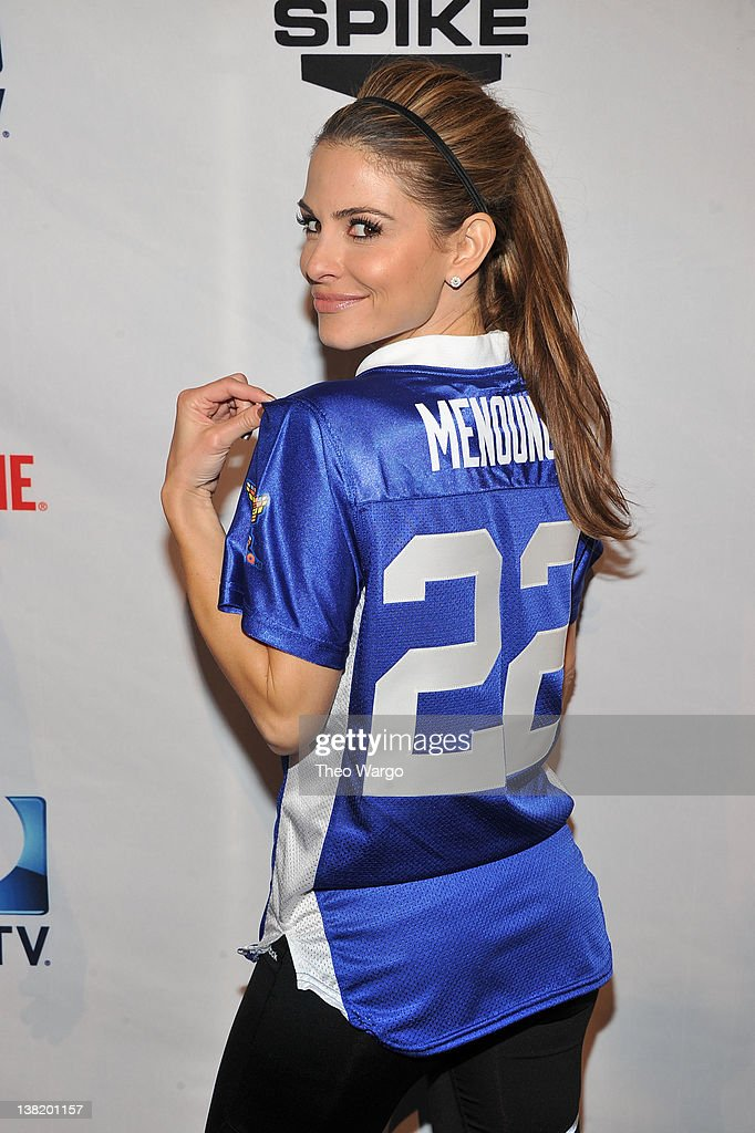 Actress Maria Menounos attends DIRECTV's Sixth Annual Celebrity Beach Bowl Game at Victory Field on February 4 2012 in Indianapolis Indiana