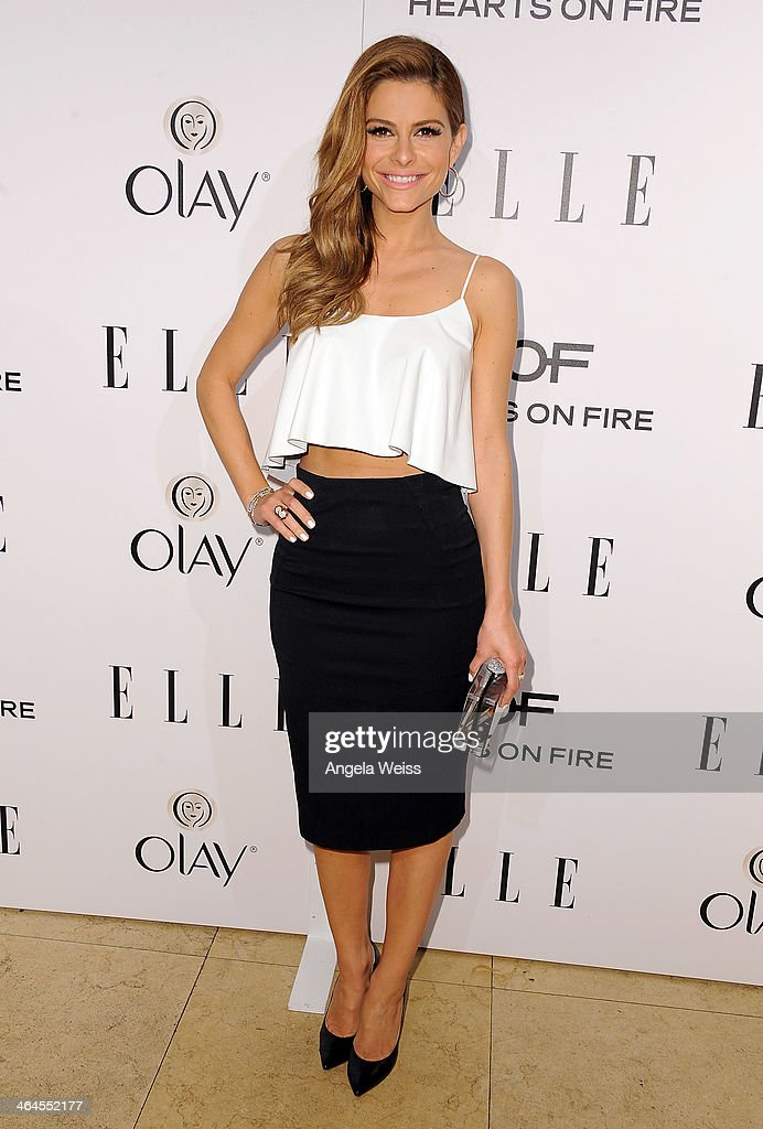 Actress Maria Menounos attends ELLE's Annual Women in Television Celebration at Sunset Tower on January 22, 2014 in West Hollywood, California.