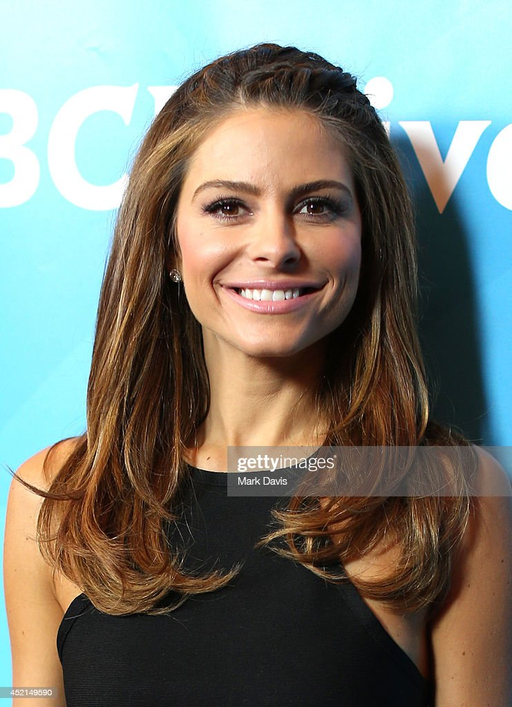 Actress <a gi-track='captionPersonalityLinkClicked' href=/galleries/search?phrase=Maria+Menounos&family=editorial&specificpeople=203337 ng-click='$event.stopPropagation()'>Maria Menounos</a> attends NBCUniversal's 2014 Summer TCA Tour day 2 at The Beverly Hilton Hotel on July 14, 2014 in Beverly Hills, California.