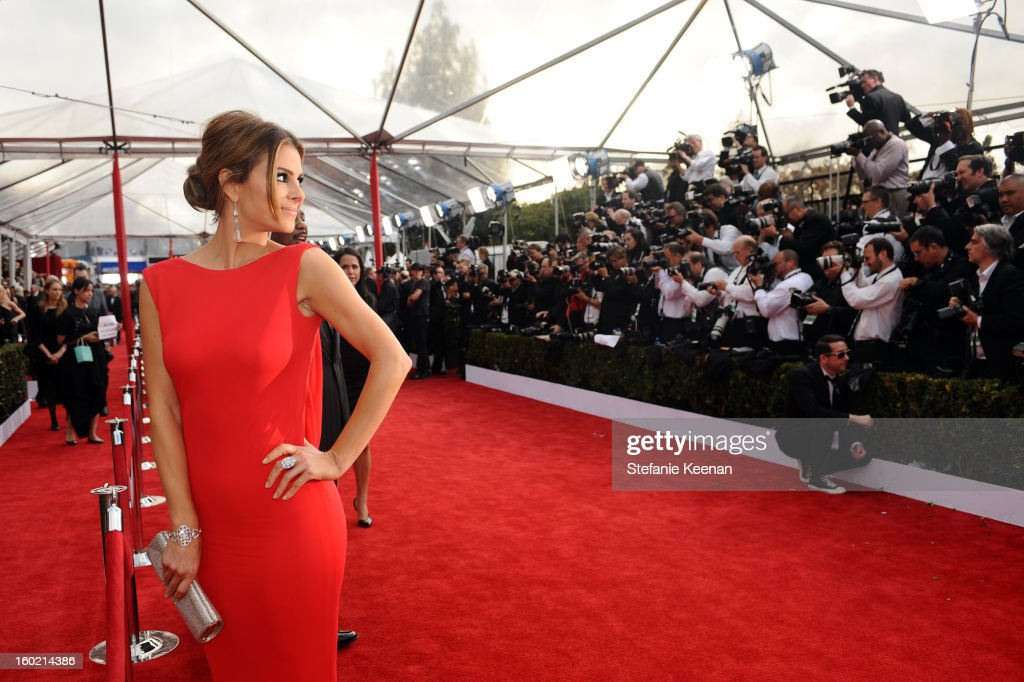 Actress Maria Menounos attends the 19th Annual Screen Actors Guild Awards at The Shrine Auditorium on January 27, 2013 in Los Angeles, California. (Photo by Stefanie Keenan/WireImage) 23116_025_0682.jpg