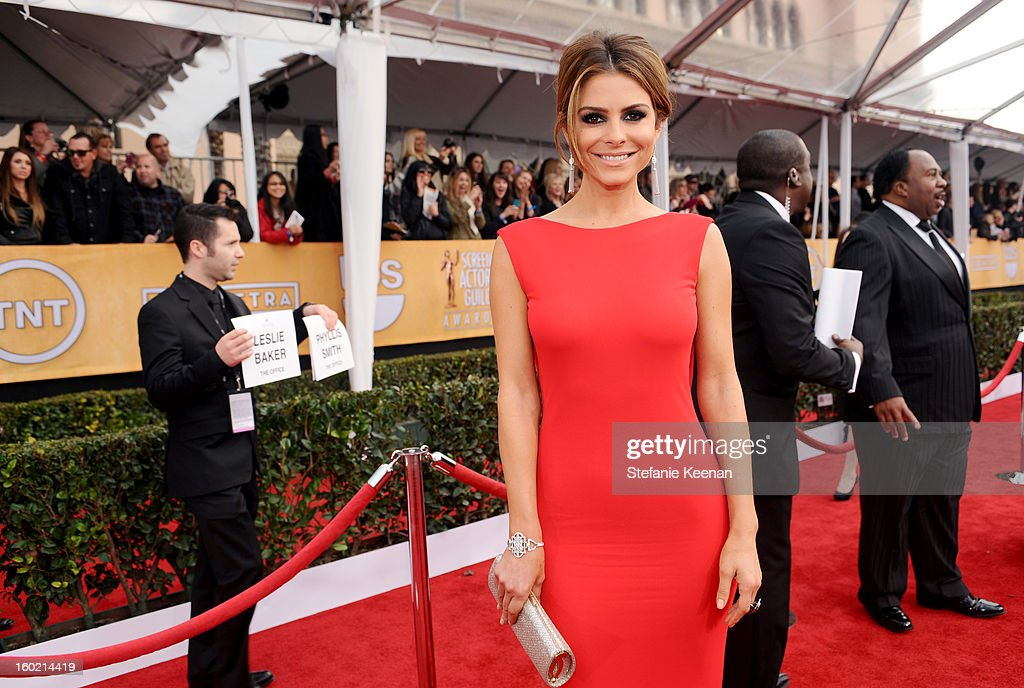 Actress Maria Menounos attends the 19th Annual Screen Actors Guild Awards at The Shrine Auditorium on January 27, 2013 in Los Angeles, California. (Photo by Stefanie Keenan/WireImage) 23116_025_0691.jpg
