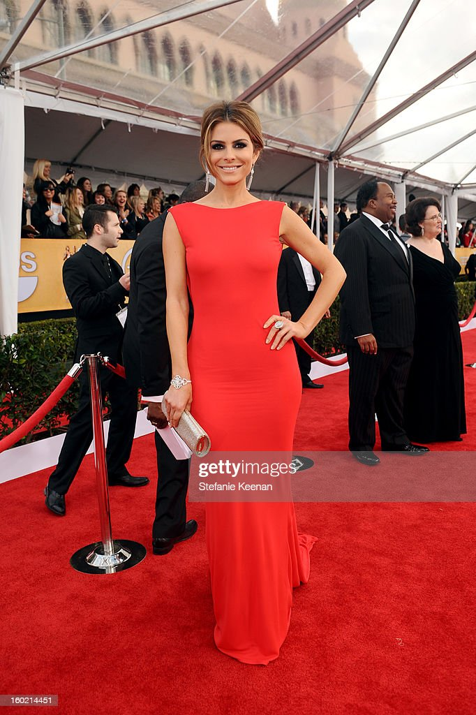 Actress Maria Menounos attends the 19th Annual Screen Actors Guild Awards at The Shrine Auditorium on January 27, 2013 in Los Angeles, California. (Photo by Stefanie Keenan/WireImage) 23116_025_0697.jpg