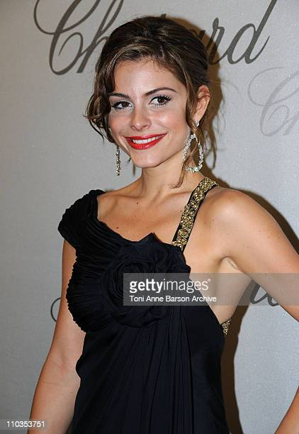 Actress Maria Menounos attends the Chopard Trophy Award Party at Carlton Beach during the 61st Cannes International Film Festival on May 19 2008 in...