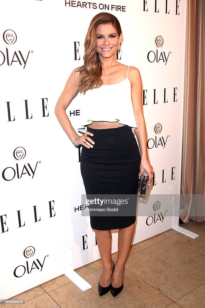 Actress Maria Menounos attends the ELLE Women In Television Celebration held at the Sunset Tower on January 22, 2014 in West Hollywood, California.