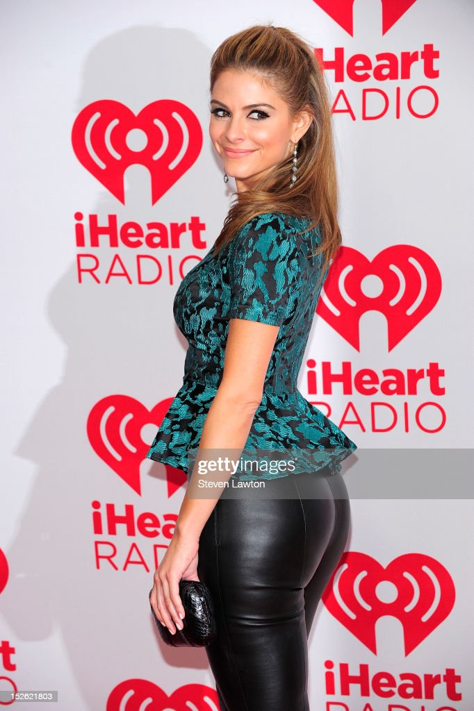 Actress <a gi-track='captionPersonalityLinkClicked' href=/galleries/search?phrase=Maria+Menounos&family=editorial&specificpeople=203337 ng-click='$event.stopPropagation()'>Maria Menounos</a> poses in the press room at the iHeartRadio Music Festival at the MGM Grand Garden Arena September 21, 2012 in Las Vegas, Nevada.