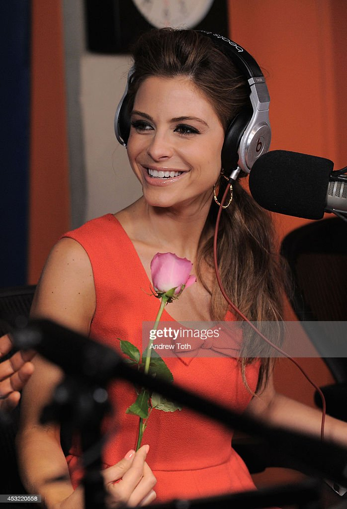 Actress Maria Menounos visits 'Shade45' with Sway Calloway at SiriusXM Studios on August 5, 2014 in New York City.