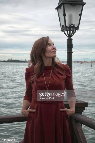 Actress Maria Pia Calzone attends Movie Stars Lounge on September 1 2014 in Venice Italy