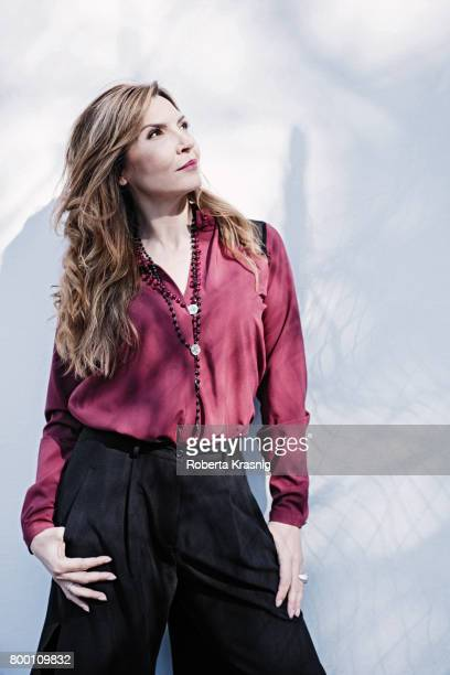 Actress Maria Pia Calzone is photographed for Self Assignment on May 02 2017 in Rome Italy