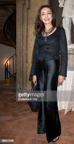 Actress Maria Rosaria Omaggio attends 2009 Nastri D'Argento Nominations Dinner Party at Villa Medici on May 28 2009 in Rome Italy