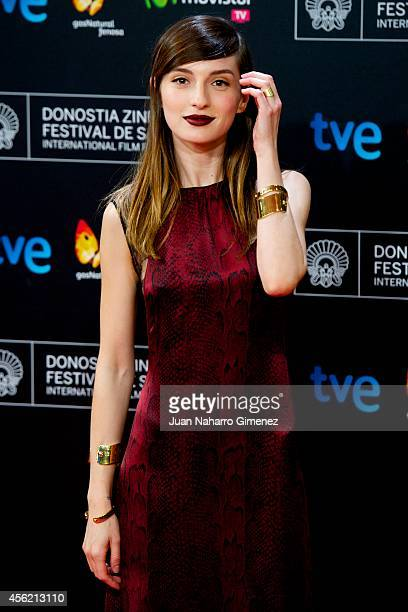 Actress Maria Valverde attends the 62nd San Sebastian International Film Festival closing ceremony at the Kursaal Palace on September 27 2014 in San...