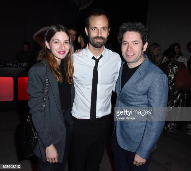 Actress Maria Valverde choreographer Benjamin Millepied and conductor Gustavo Dudamel attend the 2017 Los Angeles Dance Project Gala on October 7...