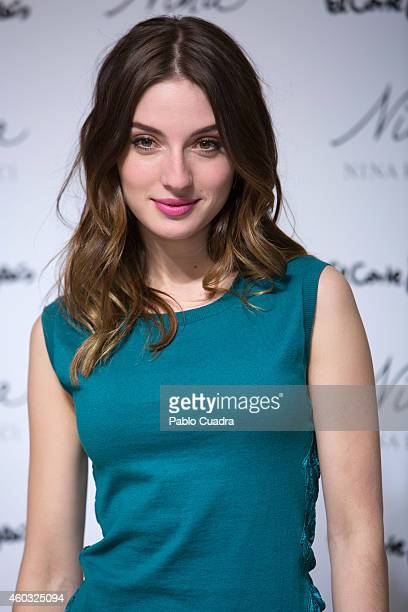 Actress Maria Valverde presents the new 'Nina Ricci' fragance at 'El Corte Ingles' store on December 11 2014 in Madrid Spain