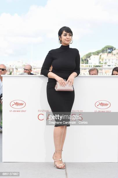 Actress Mariam Al Ferjani attends the 'Alaka Kaf Ifrit ' photocall during the 70th annual Cannes Film Festival at Palais des Festivals on May 19 2017...