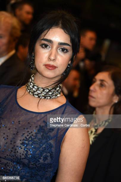 Actress Mariam Al Ferjani from the movie 'Alaka Kaf Ifrit ' attends the 'Jupiter's Moon' premiere during the 70th annual Cannes Film Festival at...