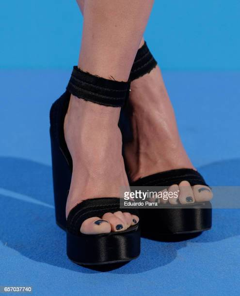 Actress Mariam Hernandez shoes detail attends the 'Proyecto Sonrisas' party at Principe Pio theatre on March 23 2017 in Madrid Spain