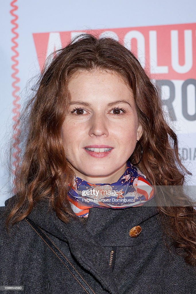 Actress Marian Aguilera attends 'Absolutamente Comprometidos' premiere at Teatro del Arte de Madrid on December 22, 2012 in Madrid, Spain.