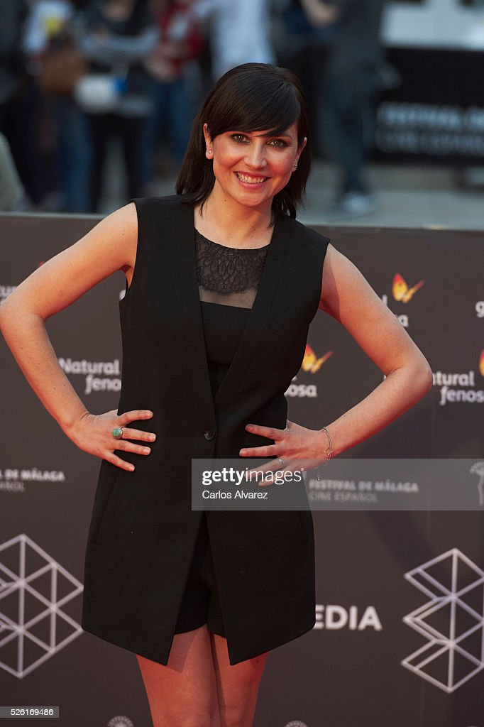 Actress Marian Alvarez attends 'Koblic' premiere at the Cervantes Teather during the 19th Malaga Film Festival on April 29, 2016 in Malaga, Spain.
