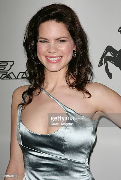 Actress Mariana Klaveno attends Ferrari's charity auction of it's 1st Ferrari 458 Italia in North America at Fleur de Lys on March 18 2010 in Los...